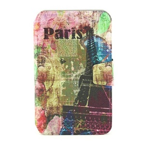 For Samsung Galaxy Tab 3 7.0 P3200 Stand Smart Leather Case - Paris Eiffel Tower Print