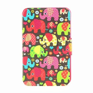 For Samsung Galaxy Tab 3 7.0 P3220 Smart Leather Cover - Seamless Retro Elephant Kids