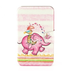 Stand Leather Smart Cover for Samsung Galaxy Tab 3 7.0 P3210 - Funny Elephant & Bird