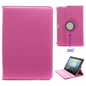 360 Degree Rotary Leather Case Stand for Samsung Galaxy Tab 2 10.1 P5100 P5110 P7500 P7510 - Rose