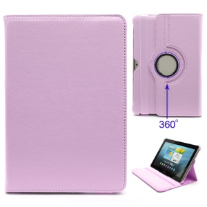 360 Degree Rotary Leather Stand Case for Samsung Galaxy Tab 2 10.1 P5100 P5110 P7500 P7510 - Pink
