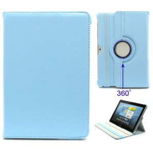 360 Degree Rotary Folio Leather Case for Samsung Galaxy Tab 2 10.1 P5100 P5110 P7510 P7500 - Blue