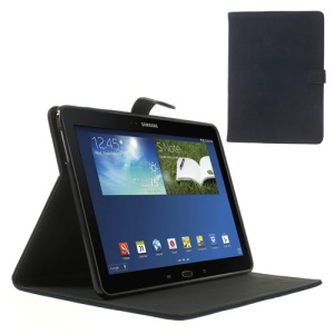 Dark Blue for Samsung Galaxy Tab Pro 10.1 T520 T525 P600 Magnetic Squirrel Grain PU Leather + TPU Flip Cover w/ Stand