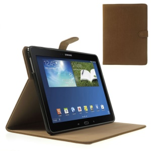 Brown for Samsung Galaxy Tab Pro 10.1 T520 T525 P600 Magnetic Squirrel Grain PU Leather + TPU Flip Cover w/ Stand