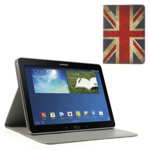 For Samsung Galaxy Tab Pro 10.1 P600 T520 T525 Wallet Leather Skin Cover Stand Vintage Union Jack Pattern