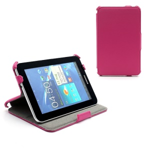 Premium Folio Stand Leather Case for Samsung Galaxy Tab 7.0 Plus P6200 P6210 P3100 P3110 - Rose