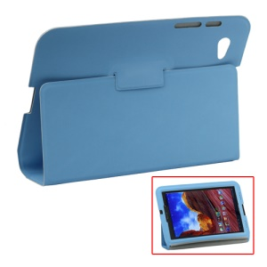 Ultra Slim Stand Leather Case for Samsung Galaxy Tab 7.7 P6800 P6810 - Light Blue