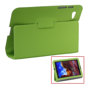 Ultra Slim Stand Leather Case for Samsung Galaxy Tab 7.7 P6800 P6810 - Green