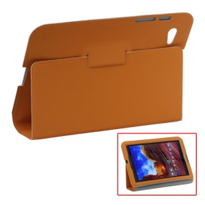 Ultra Slim Stand Leather Case for Samsung Galaxy Tab 7.7 P6800 P6810 - Orange