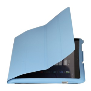 Ultra Slim Leather Case for Samsung Galaxy Tab 10.1 P7510 P7500 - Light Blue