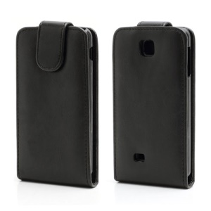 Vertical Magnetic Leather Case Cover for LG Optimus F5 P875