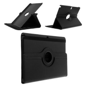 Black for Samsung Galaxy Note Pro 12.2 P900 / Tab Pro 12.2 T900 Lychee Leather Case w/ 360 Rotation Stand