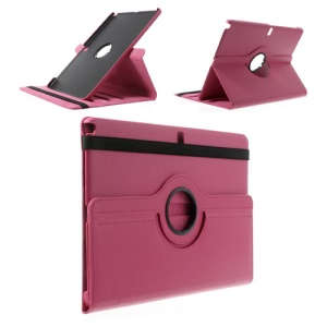 Rose 360 Rotary Stand Lychee Leather Case for Samsung Galaxy Note Pro 12.2 P900 / Tab Pro 12.2 T900
