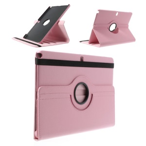Pink 360 Swivel Stand Lychee Leather Tablet Case for Samsung Galaxy Note Pro 12.2 P900 / Tab Pro 12.2 T900