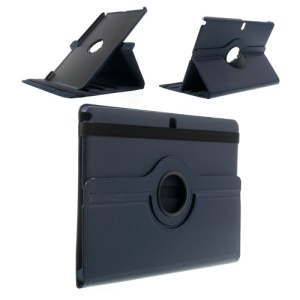 Dark Blue 360 Rotary Lychee Leather Stand Shell for Samsung Galaxy Note Pro 12.2 P900 / Tab Pro 12.2 T900