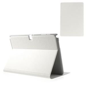 White Oracle Grain Folio Leather Case for Samsung Galaxy Note Pro 12.2 P900 / Tab Pro 12.2 T900
