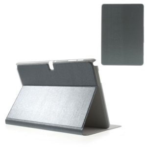 Grey Oracle Grain Stand Leather Shell for Samsung Galaxy Note Pro 12.2 P900 / Tab Pro 12.2 T900
