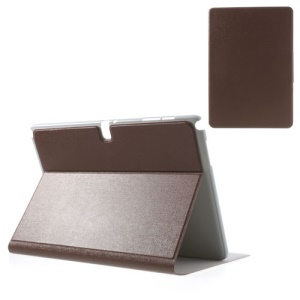 Brown for Samsung Galaxy Note Pro 12.2 P900 / Tab Pro 12.2 T900 Oracle Grain Leather Stand Cover