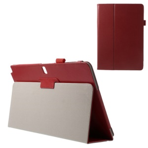 Crazy Horse Leather Stand Cover for Samsung Galaxy Note Pro 12.2 P900 / Tab Pro 12.2 T900 - Red