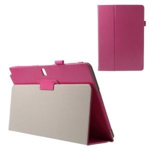 Crazy Horse Stand Leather Shell for Samsung Galaxy Note Pro 12.2 P900 / Tab Pro 12.2 T900 - Fuchsia