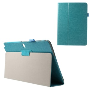 Crazy Horse Stand Leather Shell for Samsung Galaxy Note Pro 12.2 P900 / Tab Pro 12.2 T900 - Cyan