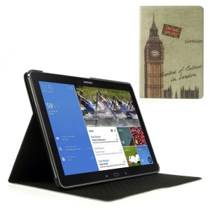 Retro UK Big Ben Cross Leather Stand Cover for Samsung Galaxy Note Pro 12.2 P905 / Tab Pro 12.2 T905