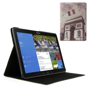 Retro France Triumphal Arch Leather Flip Cover Stand for Samsung Galaxy Note Pro 12.2 P900 / Tab Pro 12.2 T905