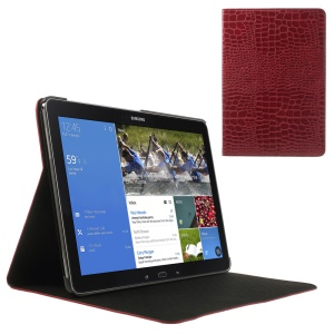 Red Crocodile Skin Folio Leather Stand Cover for Samsung Galaxy Note Pro 12.2 P900 / Tab Pro 12.2 T900