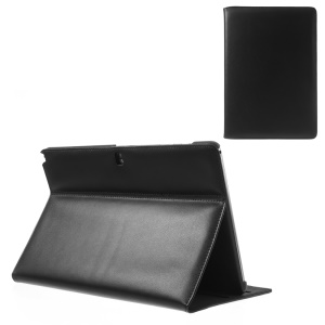 For Samsung Galaxy Note Pro 12.2 P900 / Tab Pro 12.2 T900 Doormoon Genuine Leather Flip Cover with Stand - Black