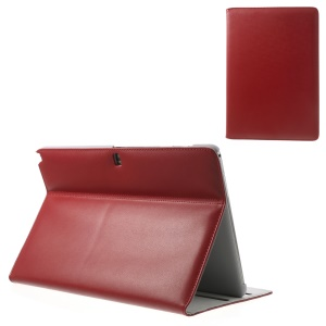 Doormoon for Samsung Galaxy Note Pro 12.2 P900 / Tab Pro 12.2 T900 Genuine Leather Flip Case with Stand - Red