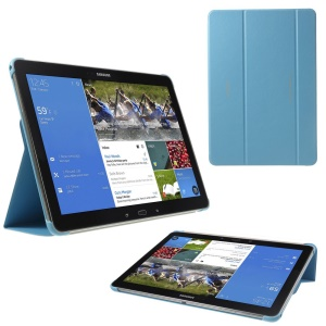 Tri-fold Stand Leather Cover for Samsung Galaxy Note Pro 12.2 P900 / Tab Pro 12.2 T905 - Blue