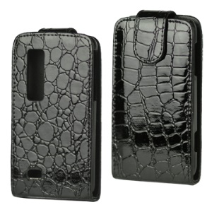 Soft Crozzling Vertical Leather Case for LG Optimus 3D P920/LG P925 THRILL 4G
