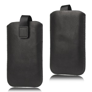 LG Optimus 3D P920 Simple Leather Case Pouch with Pull Tab
