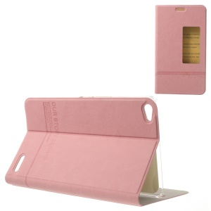 Pink S View Window Smart Leather Case Accesory for Huawei MediaPad X1 7.0 w/ Stand