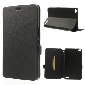 Black Doormoon Genuine Leather Flip Cover with Stand & Card Slot for Huawei MediaPad X1 7.0