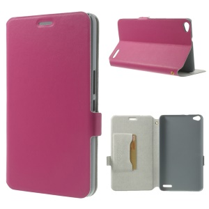 Rose Doormoon Genuine Leather Flip Cover w/ Stand & Card Slot for Huawei MediaPad X1 7.0