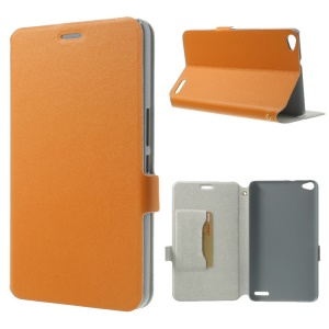 Orange Doormoon for Huawei MediaPad X1 7.0 Genuine Leather Flip Case w/ Stand & Card Slot