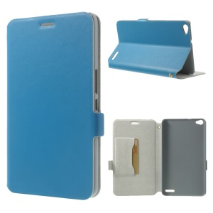 Blue Doormoon for Huawei MediaPad X1 7.0 Genuine Leather Flip Case w/ Stand & Card Slot