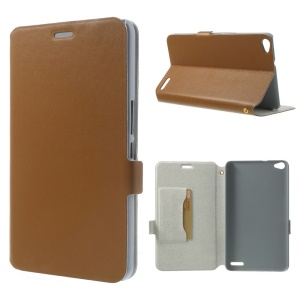 Brown Doormoon for Huawei MediaPad X1 7.0 Magnetic Genuine Leather Case w/ Stand & Card Slot