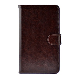 Coffee Crazy Horse Leather Stand Shell for Huawei MediaPad X1 7.0