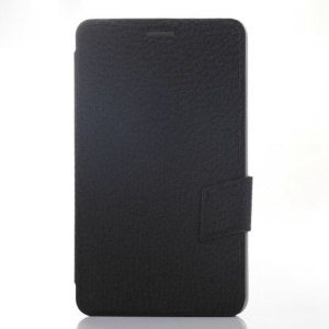 Black Cross Texture Leather Stand Case for Huawei MediaPad X1 7.0