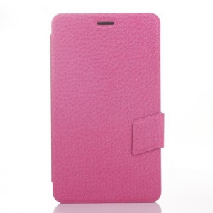 Rose Cross Texture Leather Magnetic Case w/ Stand for Huawei MediaPad X1 7.0
