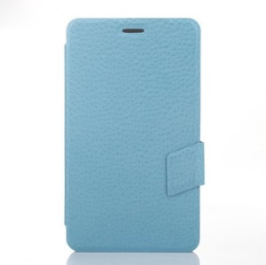 Baby Blue Cross Texture Leather Magnetic Cover w/ Stand for Huawei MediaPad X1 7.0