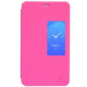 Nillkin Sparkle Series for Huawei MediaPad X1 7.0 Slim S View Leather Flip Cover - Rose