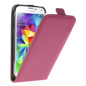 Rose Matte Leather Skin Magnetic Vertical Case Shell for Samsung Galaxy S5 GS 5 G900