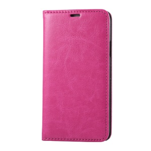 Rose for Samsung Galaxy SV G900 Dual Suction Cups Crazy Horse Leather Cover w/ Stand