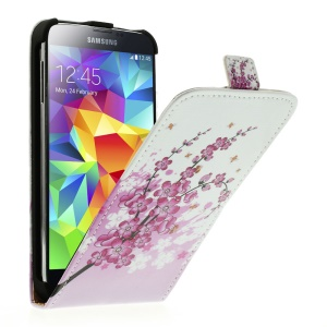 Plum Blossom Vertical PU Leather Protective Case for Samsung Galaxy S5 G900