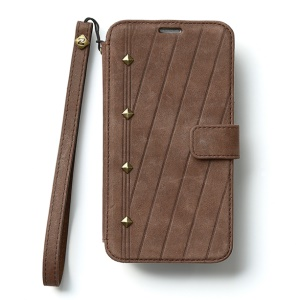 Zenus Neo Vintage Diary Wallet Leather Flip Case w/ Hand Strap for Samsung Galaxy S5 G900 - Coffee
