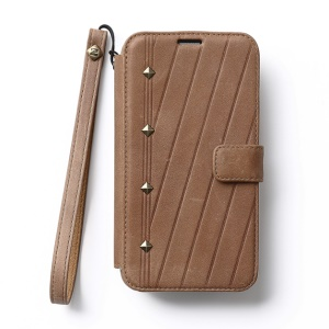 Zenus for Samsung Galaxy S5 G900 Neo Vintage Diary Wallet Leather Flip Case w/ Hand Strap - Brown
