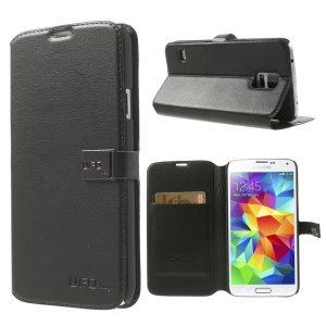 Black UFO-bag Magnetic Flip Leather Stand Case for Samsung Galaxy S5 G900
